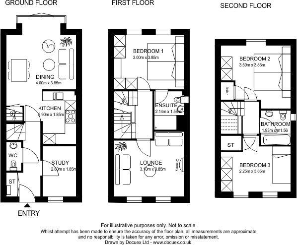 digital floor plan 44 BW