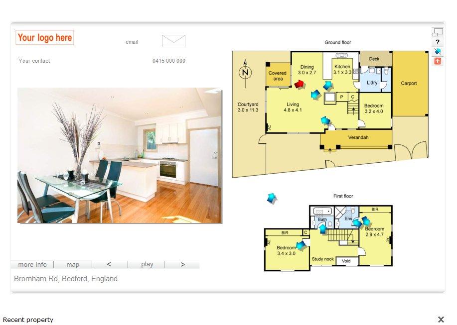 Interactive Digital Floor Plan